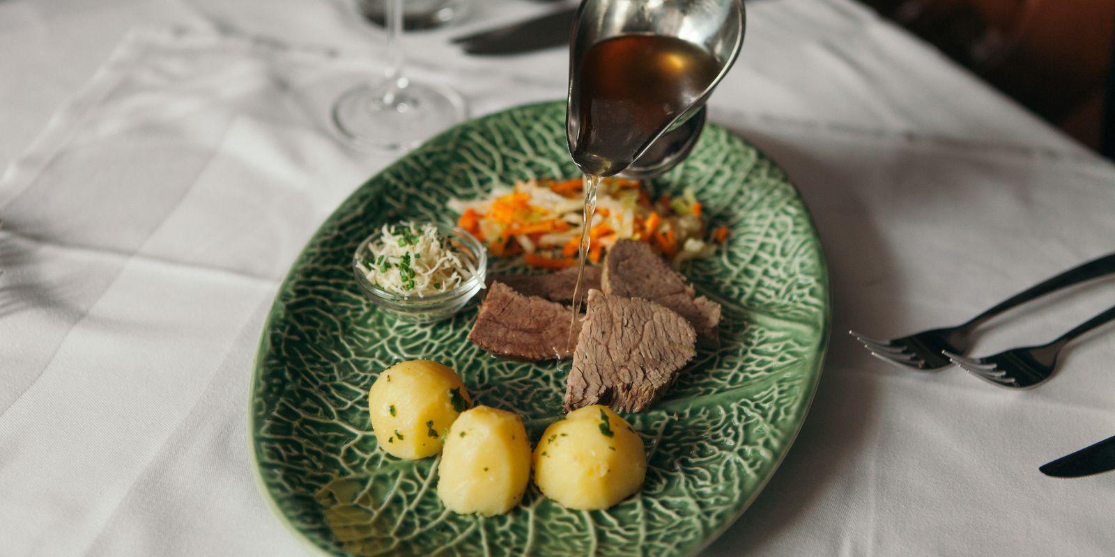Geschmackvolles Rindfleisch mit Kartoffeln
